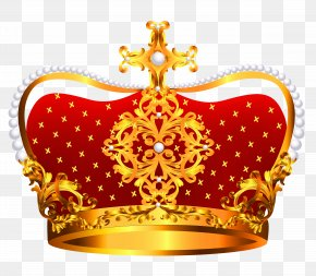 Gold And Red Crown With Pearls Clipart - Crown Gold Stock Photography Clip Art PNG