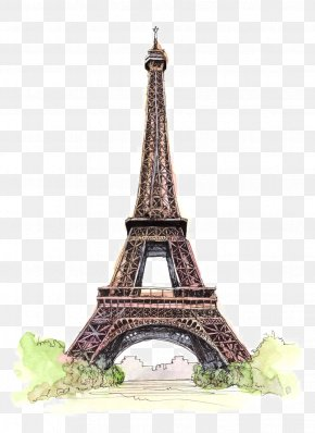 Beautifully Hand-painted Architectural Monuments - Eiffel Tower Wedding Invitation Wedding Photography Bridal Shower Engagement PNG