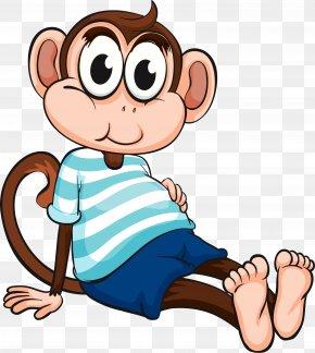 Monkey Cartoon - Chimpanzee Monkey Cartoon Drawing Clip Art PNG