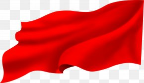 Painted Red Flag Flying - Red Flag PNG