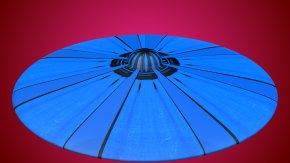 Ufo - Electric Blue Cobalt Blue 3D Computer Graphics Wavefront .obj File PNG