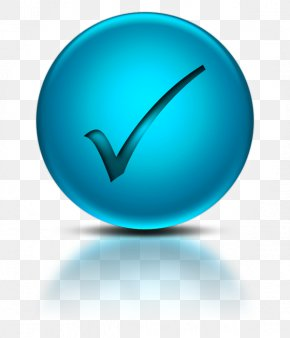 Blue Check Mark - Login Button Clip Art PNG