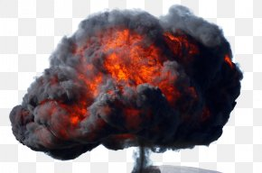 Black Mushroom Cloud PNG