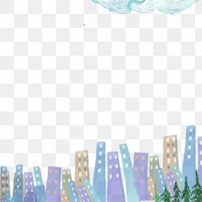 Hand-painted Winter Background - Cartoon Drawing Winter Wallpaper PNG