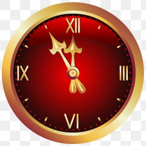 Christmas Red Clock Clipart Picture - Clock Icon PNG