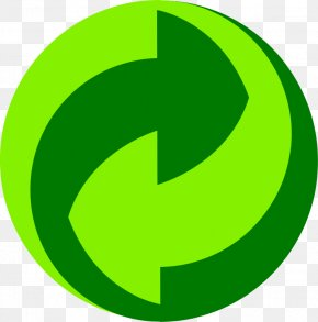 Recycling Symbol Printable - Paper Green Dot Recycling Symbol Packaging And Labeling PNG