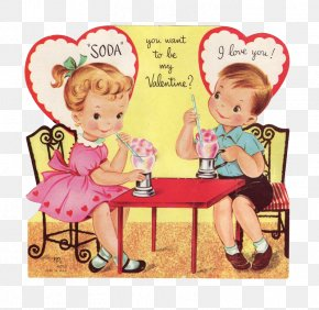 Kids Fashion - Valentine's Day Gift Greeting & Note Cards Clip Art PNG