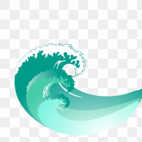 Spray Painted Blue Wave Vector - Wind Wave PNG
