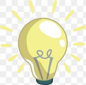 Vector Cartoon Light Bulb - Incandescent Light Bulb Cartoon Electric Light Clip Art PNG