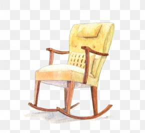 Yellow Rocking Chair - Rocking Chair Yellow Computer File PNG