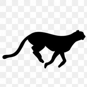 Cheetah Silhouette - Cheetah Felidae Leopard Cat PNG