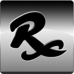 Silver Rx Icon - Medical Prescription Pharmacy Pharmacist Pharmaceutical Drug Symbol PNG