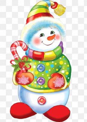 Snowman - Candy Cane Snowman Christmas Santa Claus Clip Art PNG