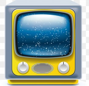 TV Vector Material - Television Set Color Television Icon PNG