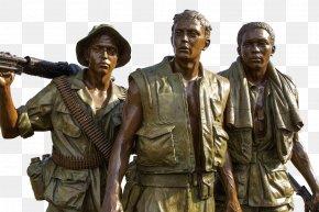 Soldier - Vietnam Veterans Memorial The Three Soldiers Vietnam Women's Memorial Military PNG