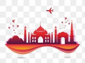 Vector India City - India Tourism Euclidean Vector Skyline PNG