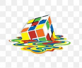 Color Melting Cube - T-shirt Hoodie Rubiks Cube Sheldon Cooper PNG