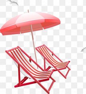 Summer Sun Umbrella Beach Chair - Table Umbrella Beach Clip Art PNG