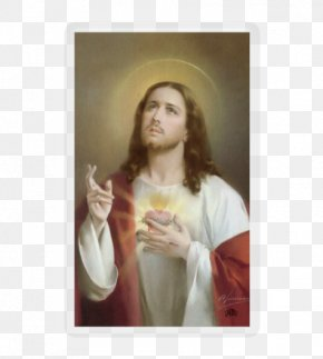 Sacred Heart Jesus - Mary Paray-le-Monial Feast Of The Sacred Heart Holy Card PNG
