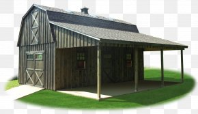Barn - Shed Lean-to Gambrel Barn Pole Building Framing PNG