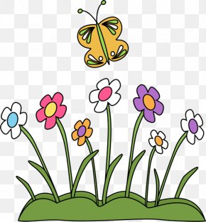 Above Cliparts - Flower Spring Free Content Clip Art PNG
