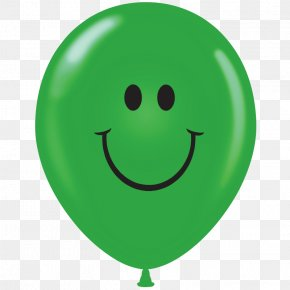 Smiley - Smiley Green Balloon PNG