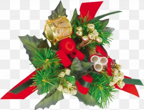 Christmas Ornament Floral Design New Year Cut Flowers PNG