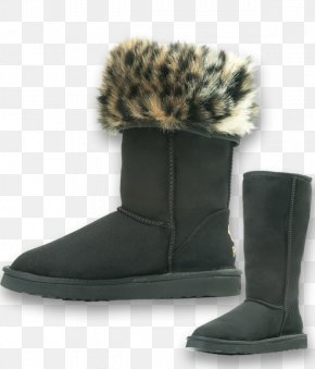 Boot - Snow Boot Shoe Leopard Ankle PNG