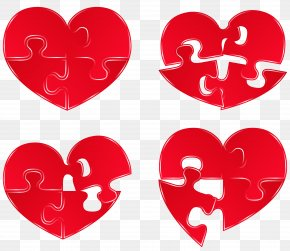 Puzzle Hearts Clipart Picture - Jigsaw Puzzle Heart Clip Art PNG