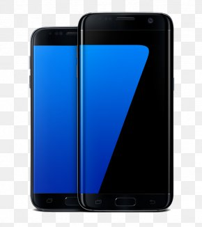 Samsung S7 And S7,Qu Black Edge Screen Material - Smartphone IPhone 6S Feature Phone Samsung Cellular Network PNG