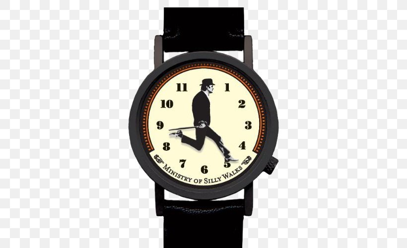 The Ministry Of Silly Walks Watch Monty Python Sketch Comedy Humour, PNG, 500x500px, Ministry Of Silly Walks, Brand, Clock, Fishslapping Dance, Humour Download Free