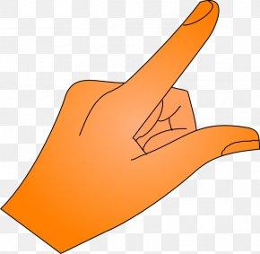 Hand Pointing - Index Finger Middle Finger Clip Art PNG
