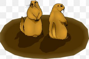 Groundhog Cliparts - Prairie Dog The Groundhog Squirrel Rodent PNG