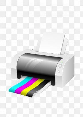 Vector 3D Printer - Printer CMYK Color Model Clip Art PNG