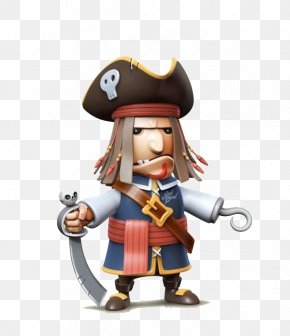 3d Pirate Toy - Cartoon Piracy Illustration PNG