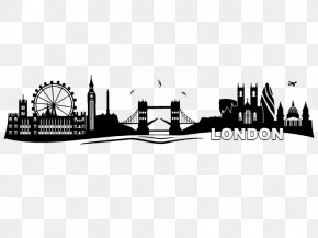 London - 2018 London Marathon Wall Decal Skyline Photography PNG