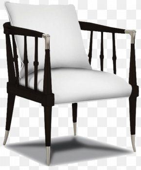 Black And White Living Room Decor Armchair - Hickory Chair Furniture Upholstery Living Room PNG