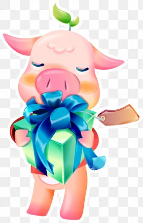 Gift Pig Vector Material - Gift Euclidean Vector Clip Art PNG