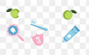 Vector Green Apple Toothbrush - Tooth Fairy Dentist Clip Art PNG