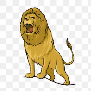 Lion - Lion Tiger Roar Cartoon Clip Art PNG