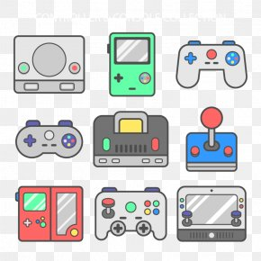 Vector Gamepad - Joystick Game Controller Video Game Download Icon PNG