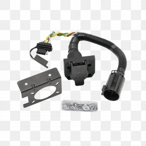 Tow Hitch - Electrical Connector AC Power Plugs And Sockets Car Towing Cable Harness PNG