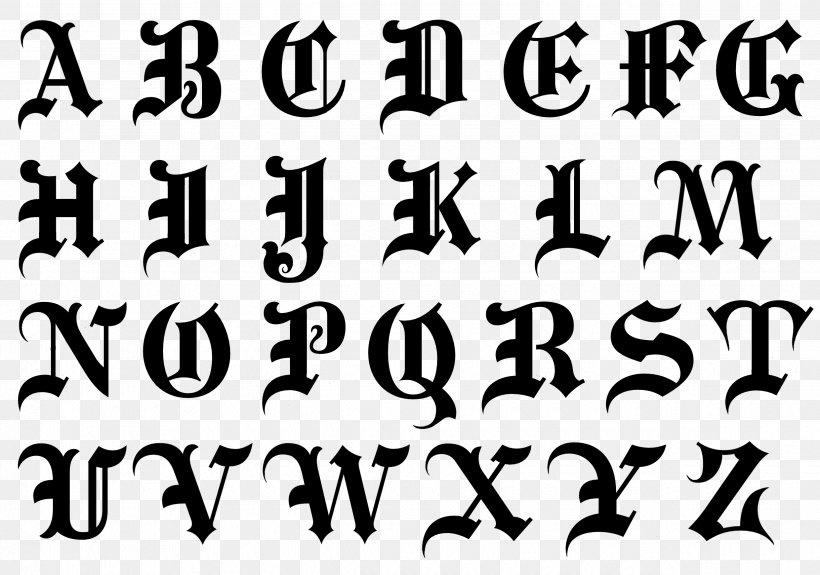 Alphabet Blackletter Script Typeface Cursive Font, PNG, 2480x1740px, Alphabet, Area, Black, Black And White, Blackletter Download Free