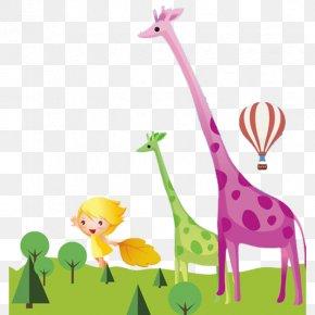 Cartoon Giraffe - Northern Giraffe Cartoon Drawing PNG