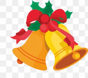 Bell - Rudolph Santa Claus Paper Christmas Sticker PNG