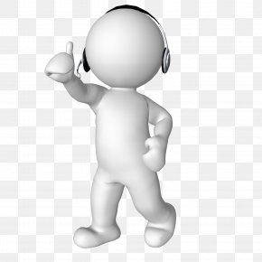 Thinking Man - 3D Computer Graphics Headphones Clip Art PNG