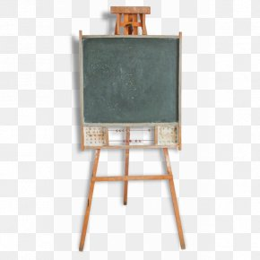 Ecole - Easel Paper Painting School Vintage Clothing PNG