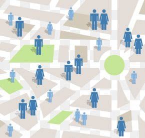 People On The Map - Location-based Advertising Location-based Service Mobile Phone PNG