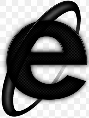 Black Internet Explorer Icon - Internet Explorer Dark Web PNG