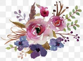 Flower - Flower Bouquet Watercolour Flowers Watercolor Painting Floral Design PNG